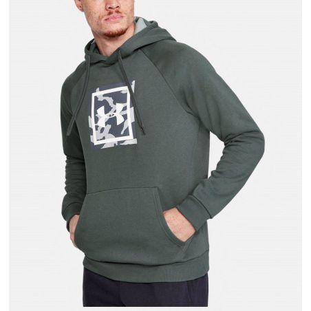 קפוצ'ון אנדר ארמור לגבר Under Armour Rival Fleece Logo Hoodie