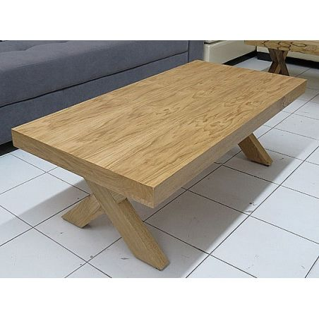 שולחן סלון בעיצוב צעיר מעץ  מלא דגם איקס  עשוי MDF במגוון צבעים לבחירה