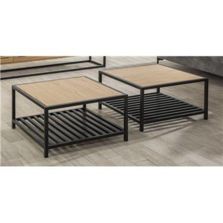 שולחן סלון מעוצב בעל זכוכית שקופה  דגם  Shon