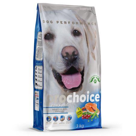 פרוצ'וייס - מזון יבש לכלבים בוגרים, דגים ואורז, 3 קילו- ProChoice