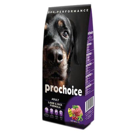 פרוצ'וייס - מזון יבש לכלבים בוגרים, כבש ואורז. 3 קילו - Pro Choice
