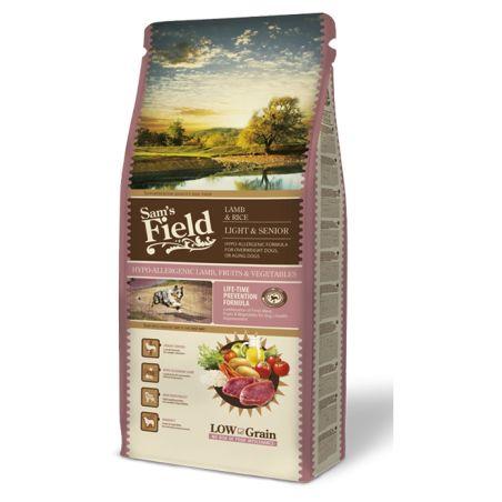 סמס פילד- מזון יבש לכלבים מבוגרים סניור/ לייט  כבש ותפוח אדמה 13 קילו  - Sam's Field