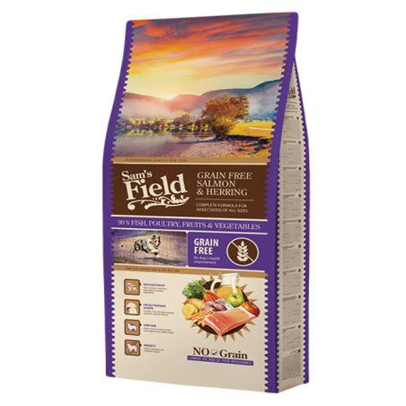 סמס פילד- מזון יבש לכלבים בוגרים , סלמון  ותפוחי אדמה 13קילו -Sam's Field