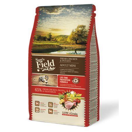 סמס פילד- מזון יבש לכלבים בוגרים מגזע קטן, עוף ותפוחי אדמה 8 קילו -Sam's Field