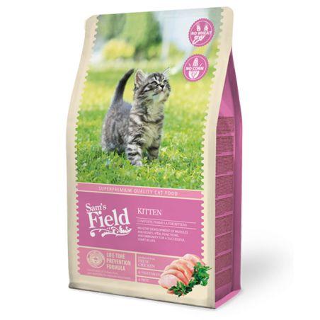 סמס פילד מזון יבש לחתולים גורים עוף 2.5 קילו - Sam's Field