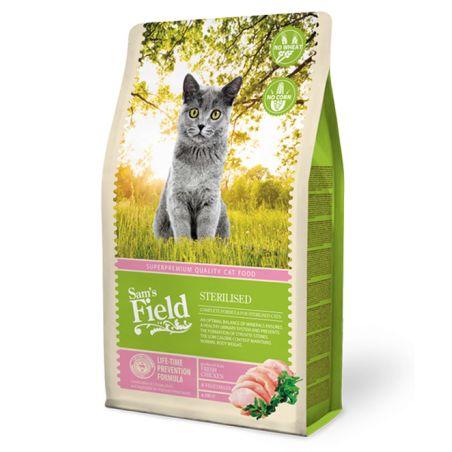 סמס פילד מזון יבש לחתולים בוגרים מסורסים עוף 2.5 קילו - Sam's Field