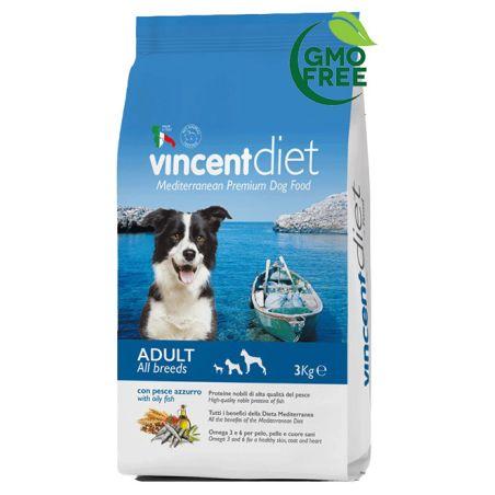 וינסנט -תזונה ים תיכונית לכלבים בוגרים, דגים ועוף ים 3 ק