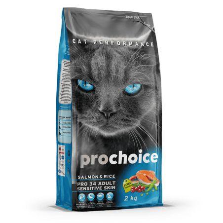 פרוצ'ויס-מזון יבש לחתולים מבוגרים סלמון ואורז 15 קילו - prochoice