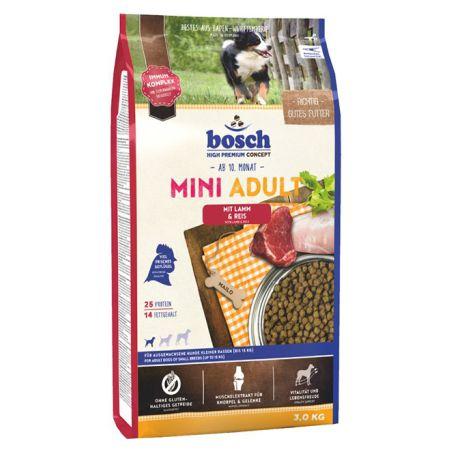 בוש- מזון יבש לכלבים בוגרים מיני מגזע קטן עוף 3 קילו - BOSCH