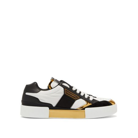 DOLCE & GABBANA -MIAMI SNEAKERS- WHITE/GOLD