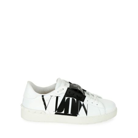 VALENTINO - Rockstud Walker Leather Sneakers