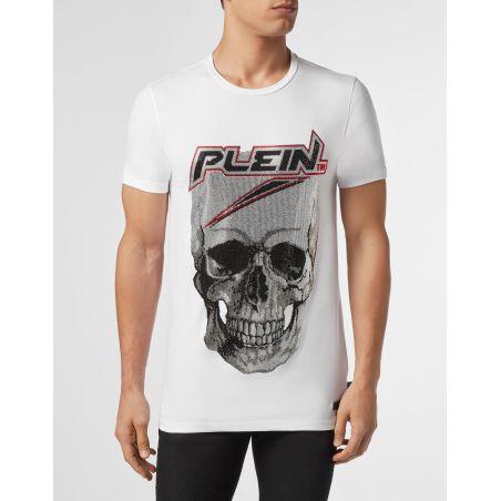 T-shirt Platinum Cut Round Neck Space Plein - PHILIPP PLEIN