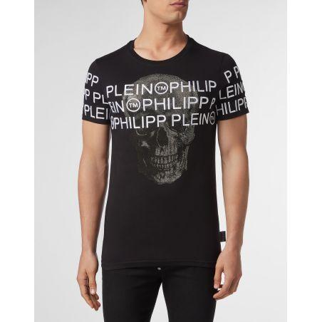 PHILIPP PLEIN - T-SHIRT ROUND NECK SS SKULL