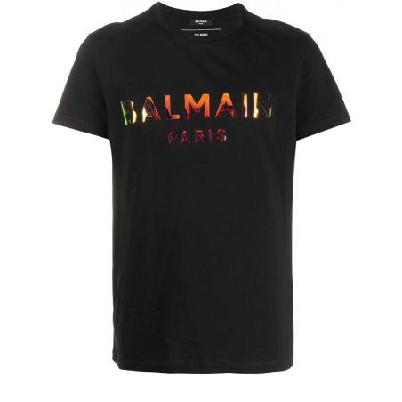 BALMAIN T-shirt Logo Hologram