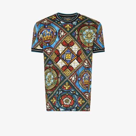Dolce & Gabbana - Multicolor Windows Print T-Shirt