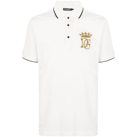 Dolce & Gabbana - DG Crown Polo Shirt - white