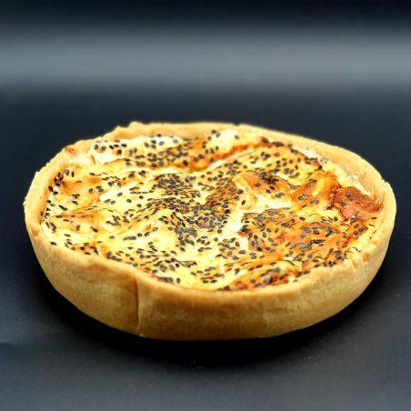 קיש בטטה גבינות ושומשום שחור