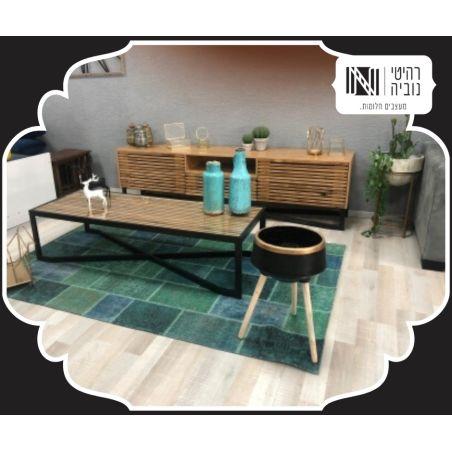 שולחן סלון בעיצוב מודרני  משולב עץ וברזל דגם Tuscany  במגוון צבעים לבחירה