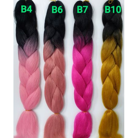 ג'מבו צבעוני - שיער סינתטי לשזירת צמות