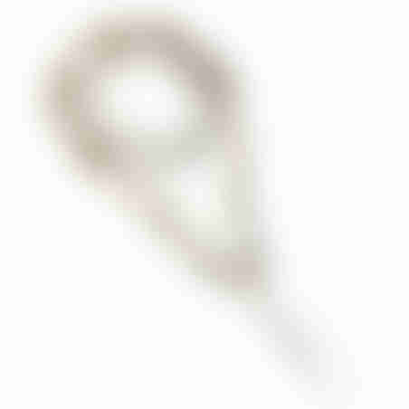 שרשרת מוהוק קונכייה - לבן וכסף