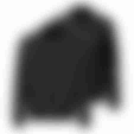 מעיל דו-צדדי - שחור צמר