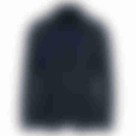 בלייזר צמר שילוב צווארון- כחול