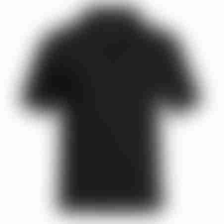 פולו קצר רוכסן - שחור - רוכסן שחור