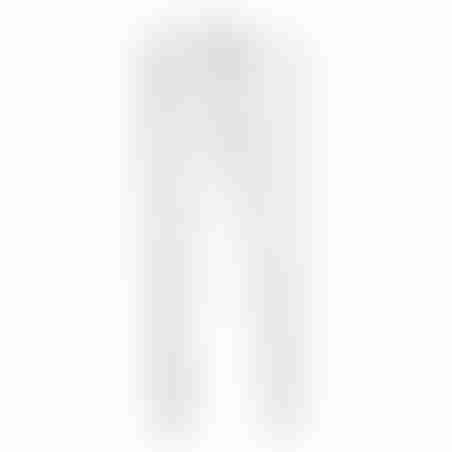 מכנסי ספורט (טרינינג) סקיני פסים דקים בצד- לבן