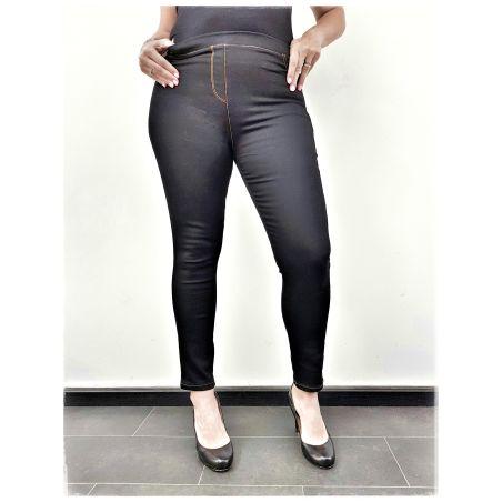ג'ינס סקיני גומי במותן- שחור