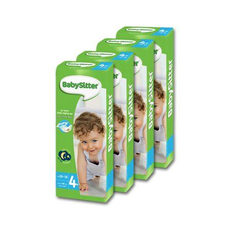 4 חבילות חיתולי BabySitter מידה +4