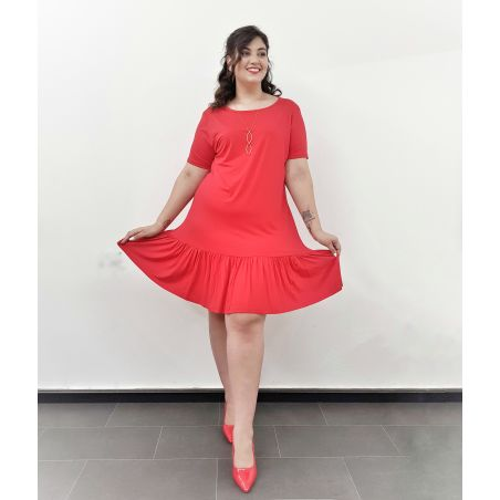 שמלת וולן אדום- SALE