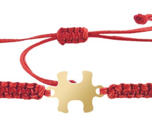 צמיד הפאזל שלנו - אדום בציפוי זהב