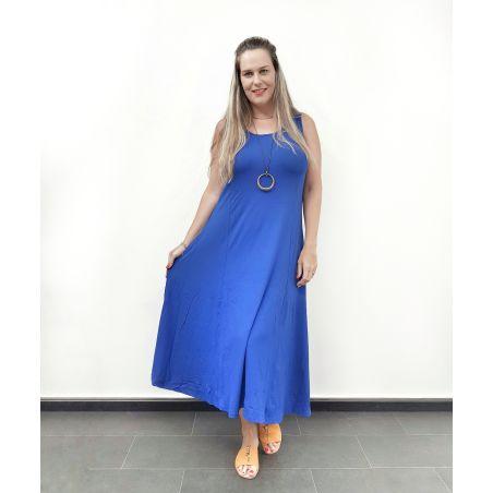 שמלת קלוש שרוולי גופיה כחול רויאל- SALE
