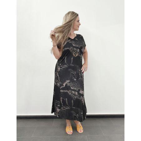 שמלת מקסי עננים- SALE