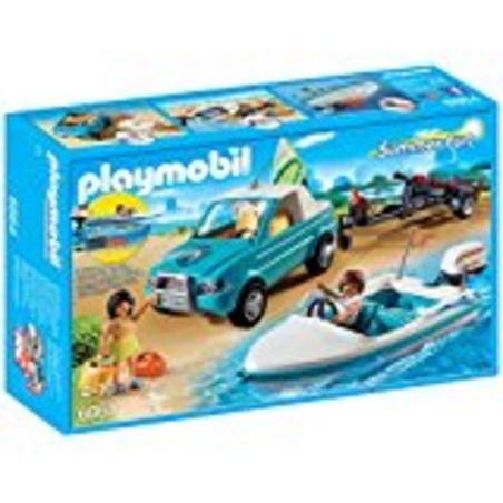 פליימוביל 6864 - רכב עם נגרר סירת מירוץ וציוד גלישה