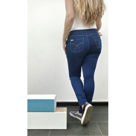 ג'ינס סקיני מחטב דגם קלאסי- כחול רויאל