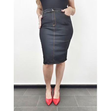 חצאית ג'ינס- שחור