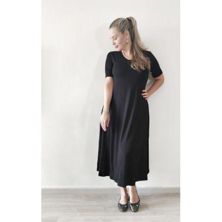 שמלת קלוש מקסי- שחור