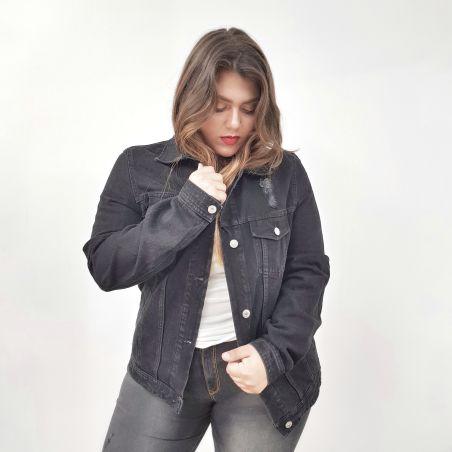 ג'קט ג'ינס- שחור