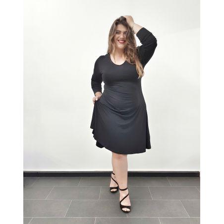 שמלת פעמון שחורה