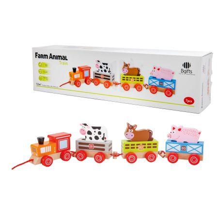 רכבת החיות מעץ