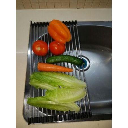 מחצלת נירוסטה רב שימושית לייבוש כלים, שטיפת ירקות ותחתית לסירים חמים.