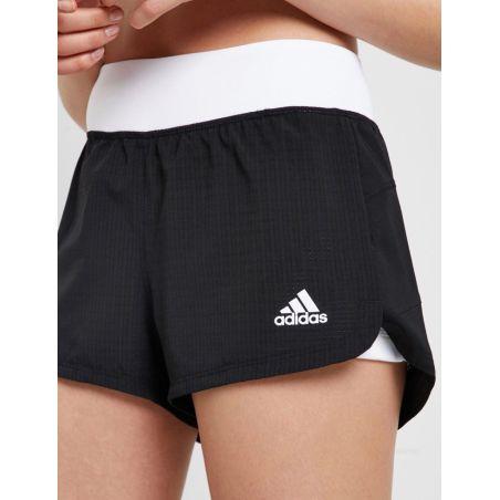 מכנס קצר עם טייץ לנשים | Adidas Two-In-One Mesh Shorts