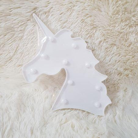 מנורת לילה - חד קרן לבן