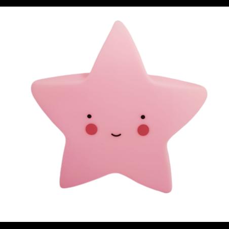מנורת לילה כוכב - ורוד