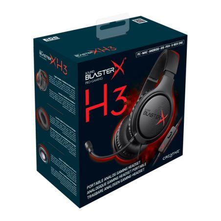 אוזניות חוטיות Creative Sound BlasterX H3 קריאייטיב