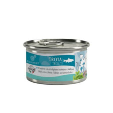 מעדן לחתול אקוליבריה 85 גר' - 100% דג טרוט