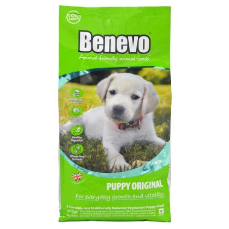 BENEVO מזון טבעוני לגורי כלבים אריזת 2 ק