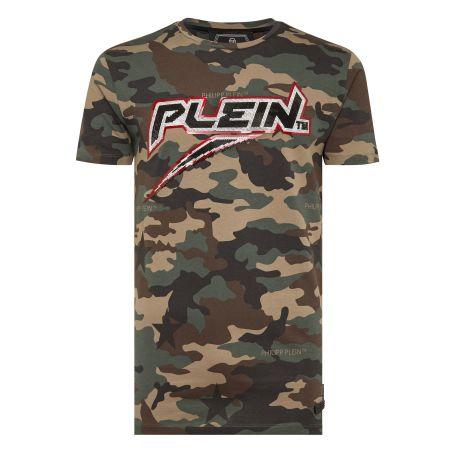 PHILIPP PLEIN - T-shirt Platinum Cut Round Neck Space Plein