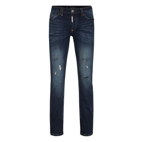 PHILIPP PLEIN - Super Straight Cut Skull JEANS
